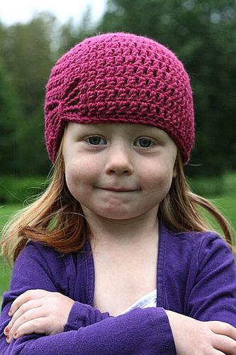 Летняя шапочка для девочки крючком - 1