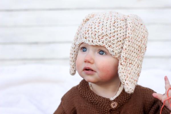 Шапка крючком для малыша - 5