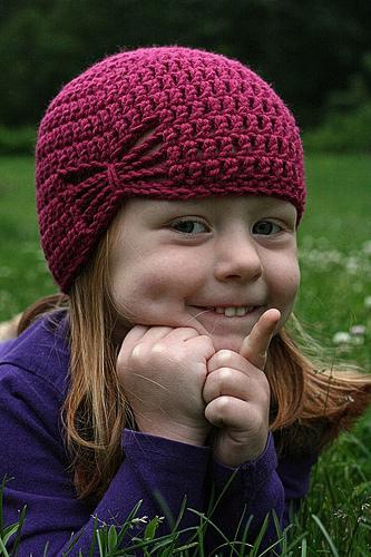 Летняя шапочка для девочки крючком - 4
