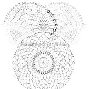 Круглая салфетка крючком - 2
