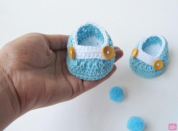 Пинетки для новорожденного крючком - 2