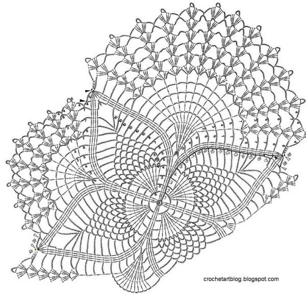 Овальная салфетка крючком - 3