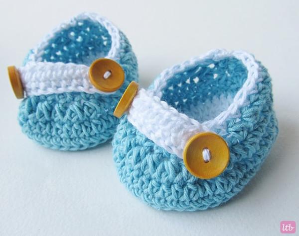 Пинетки для новорожденного крючком - 3