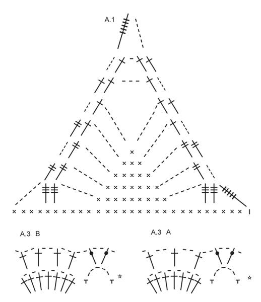 схема майки крючком