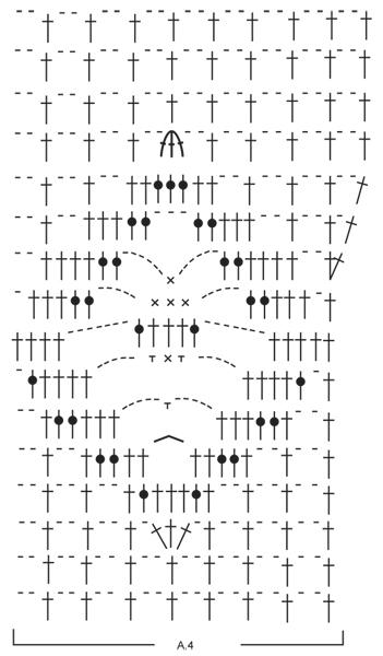 схема майки крючком-2
