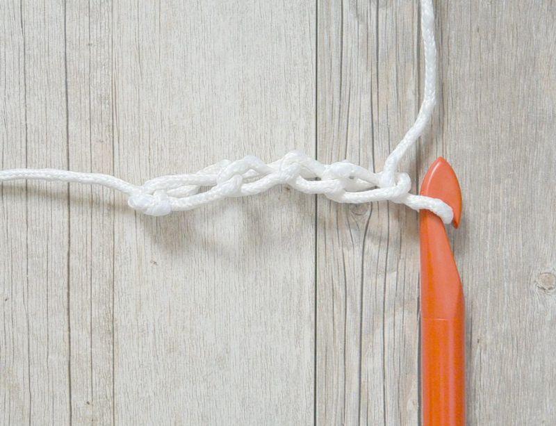 Ажурные коврики крючком-сплетите цепочку из воздушных петель