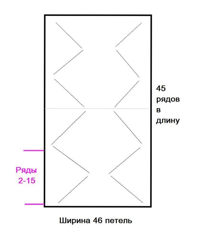 Коврик крючком для начинающих-схема