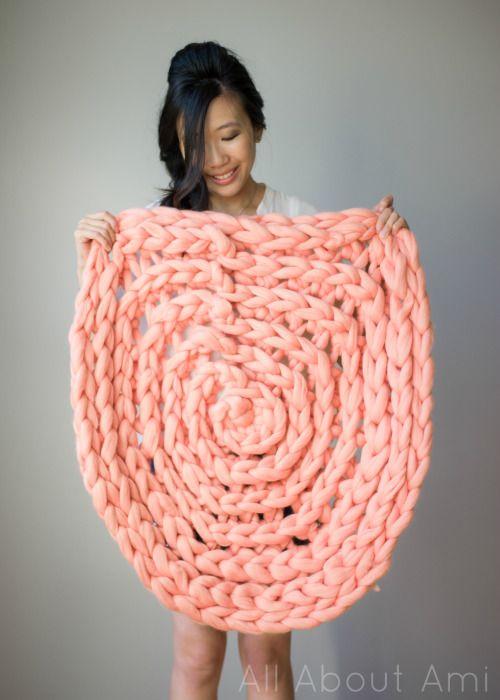 Объемный коврик крючком-легкое провисание коврика