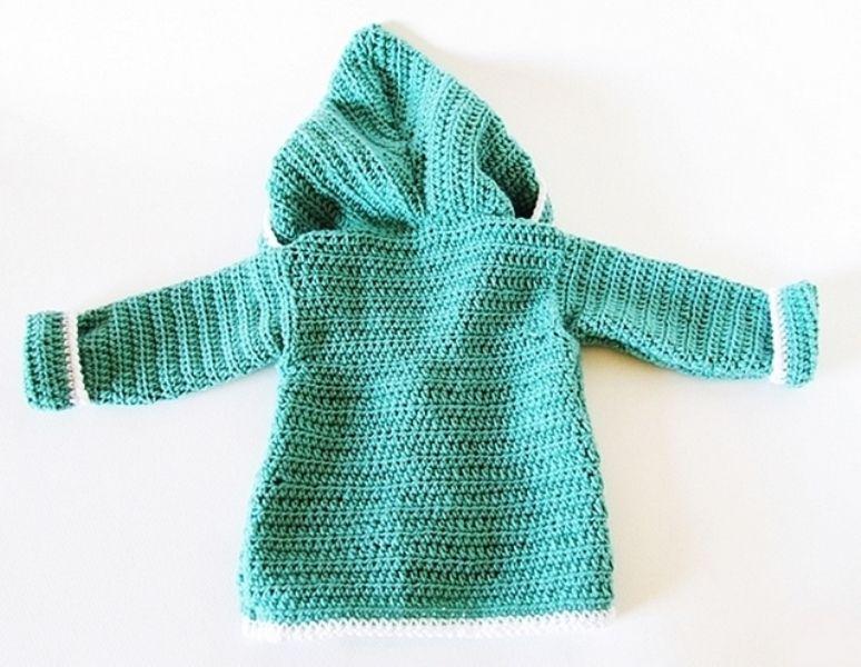 Detskaya-kofta-kryuchkom-2 Тёплая кофточка для новорождённых