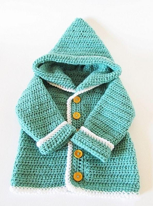 Detskaya-kofta-kryuchkom-7 Тёплая кофточка для новорождённых