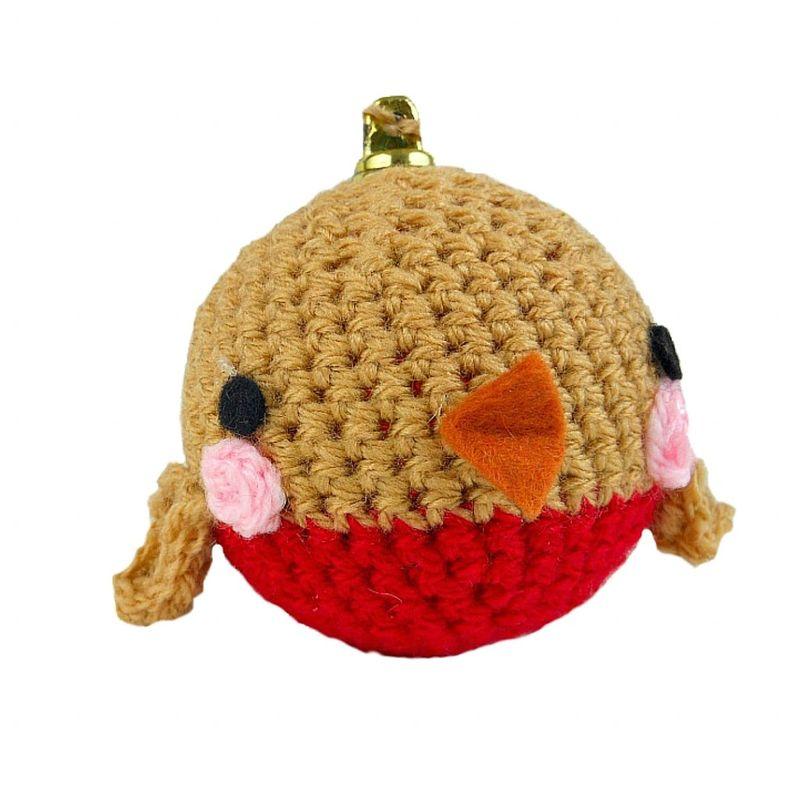 Новогодние игрушки крючком-птица