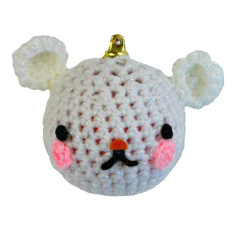 Новогодние игрушки крючком-белый медведь