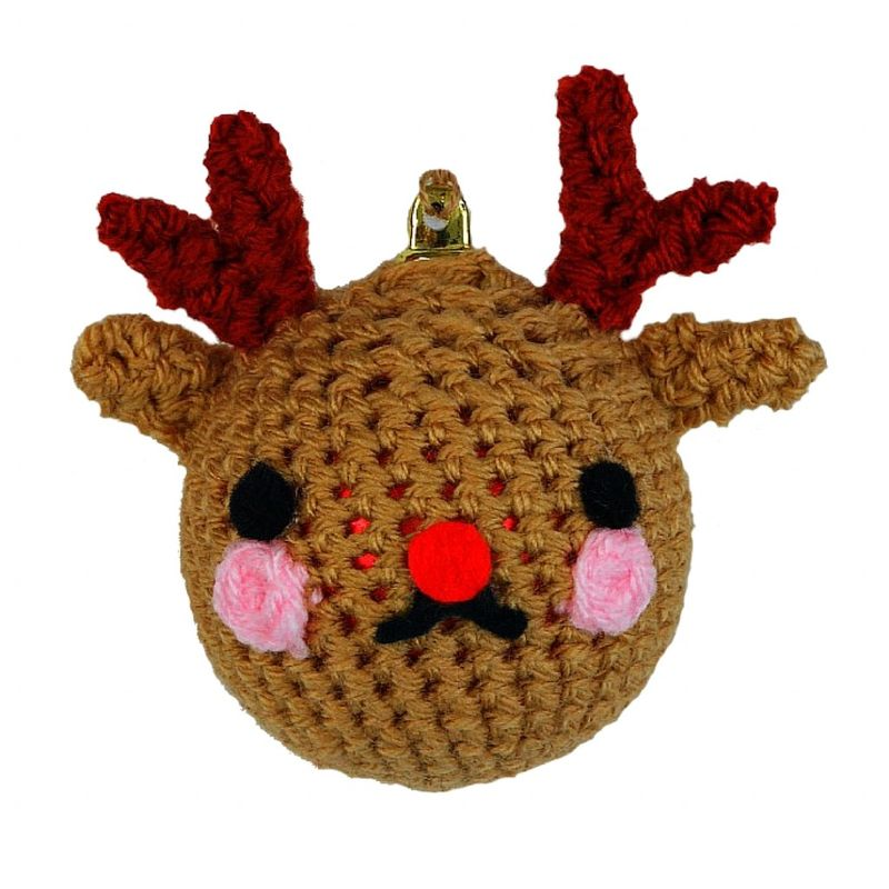 Новогодние игрушки крючком-олень