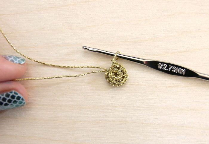 Серьги крючком-свяжите волшебное кольцо
