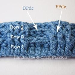 Детский плед крючком- первые 3 ряда