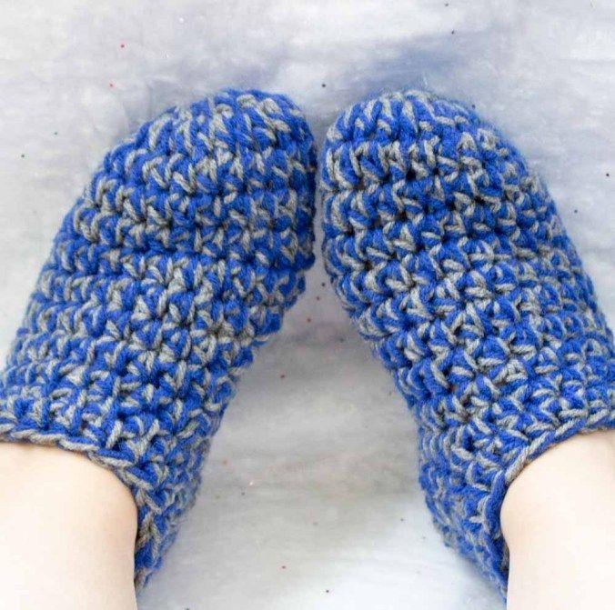 Носочки крючком для начинающих на ногах
