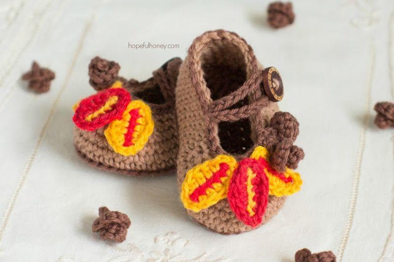 Пинетки туфельки крючком своими руками