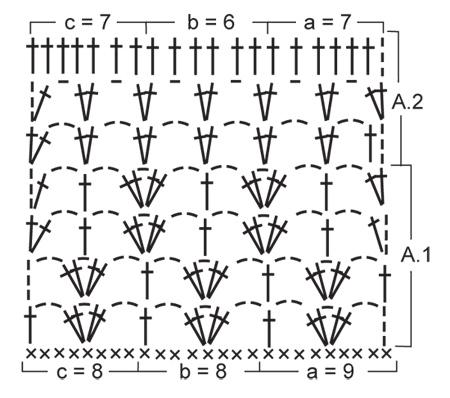 Летняя туника крючком - 3