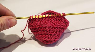 6-й этап вязания пинеток