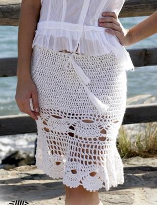 Летняя юбка крючком