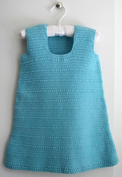 Вязание летнего платья для девочки крючком