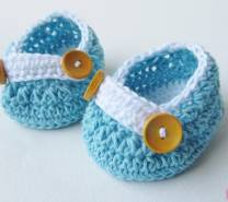 Пинетки для новорожденного крючком