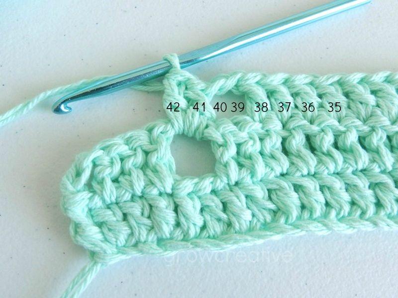 Коврик крючком для начинающих-плетите столбики через отверстие