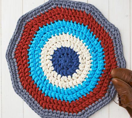 как связать круглый коврик крючком