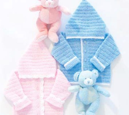 Detskaya-kofta-kryuchkom-1.1-450x400 Тёплая кофточка для новорождённых