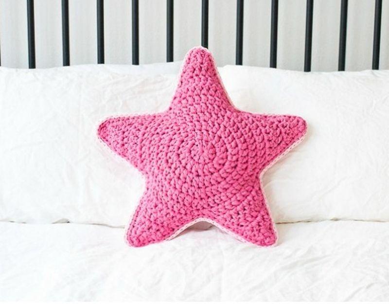 Подушка звезда крючком