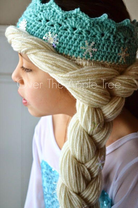 Шапка парик крючком для девочки