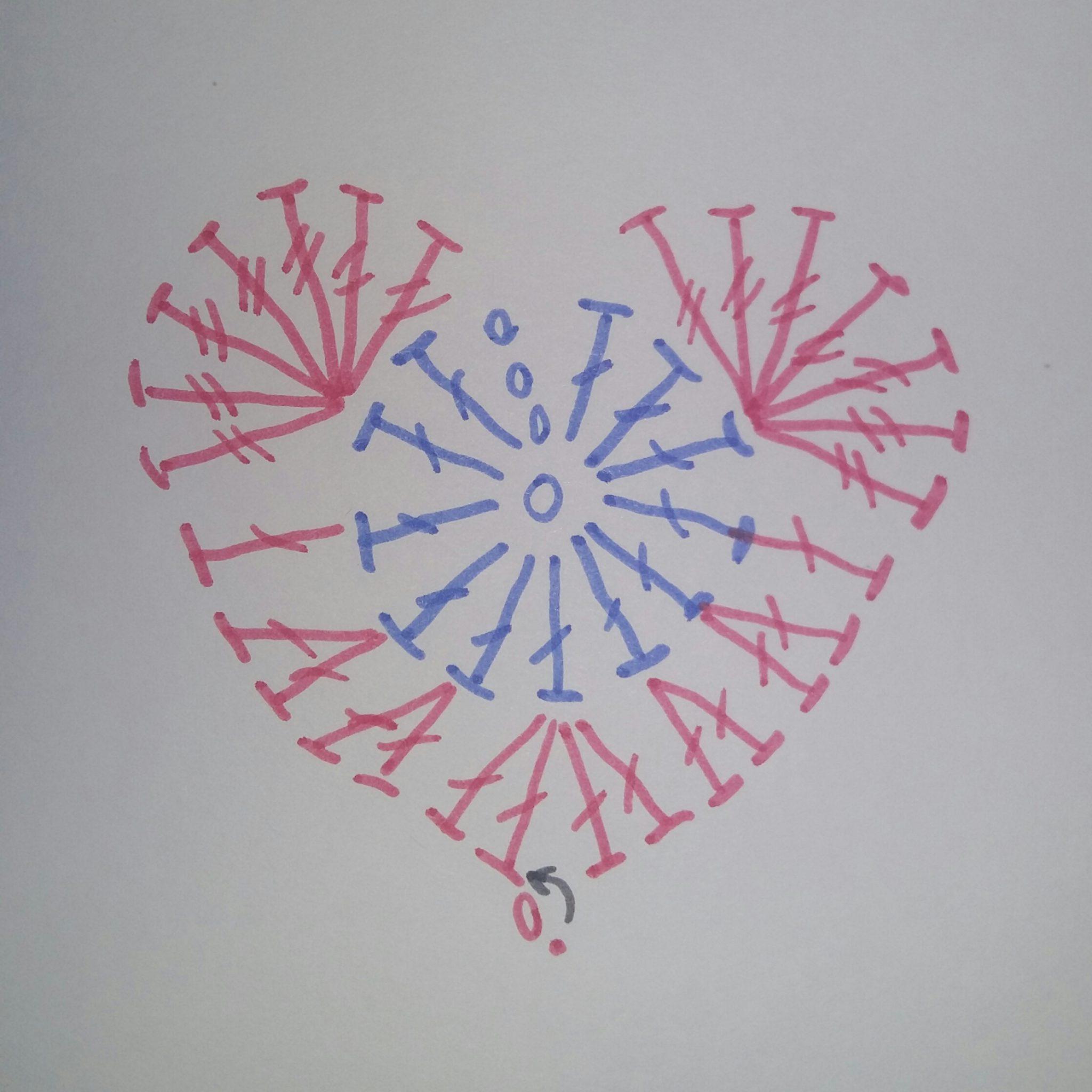 Схемы вязания крючком сердечек с описанием 388