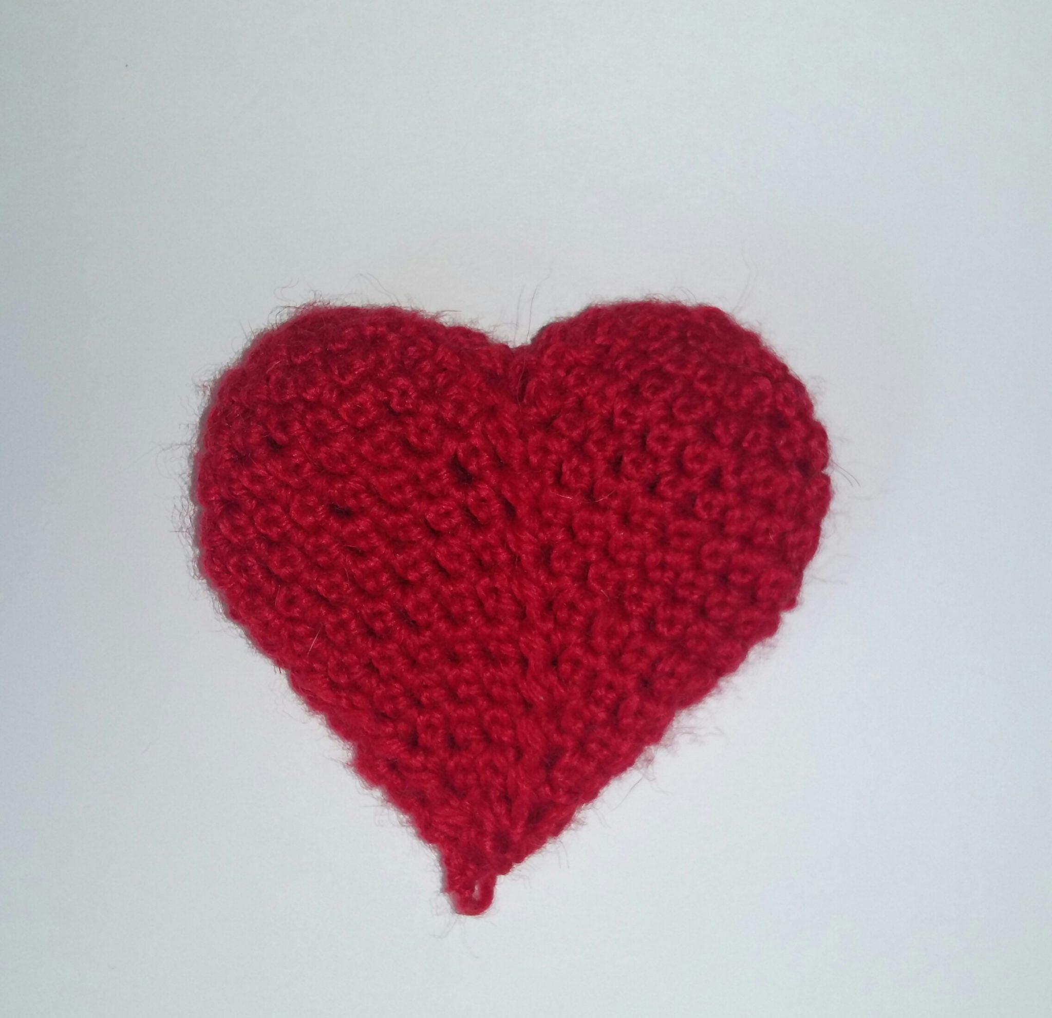 Объемное сердце крючком схема фото 335