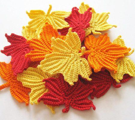 листья крючком схема и описание