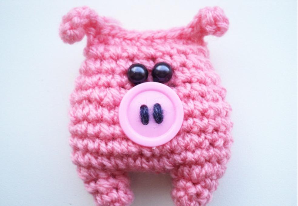 Брелок в виде свинки