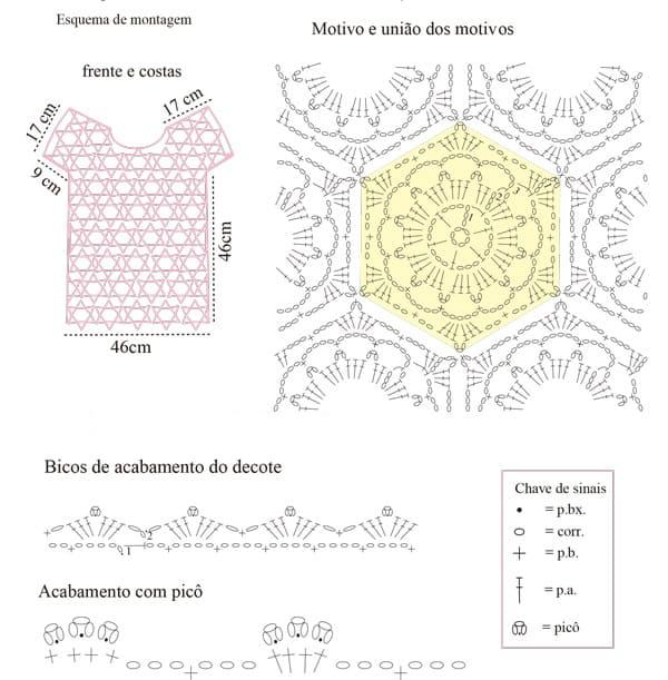 Схема блузы