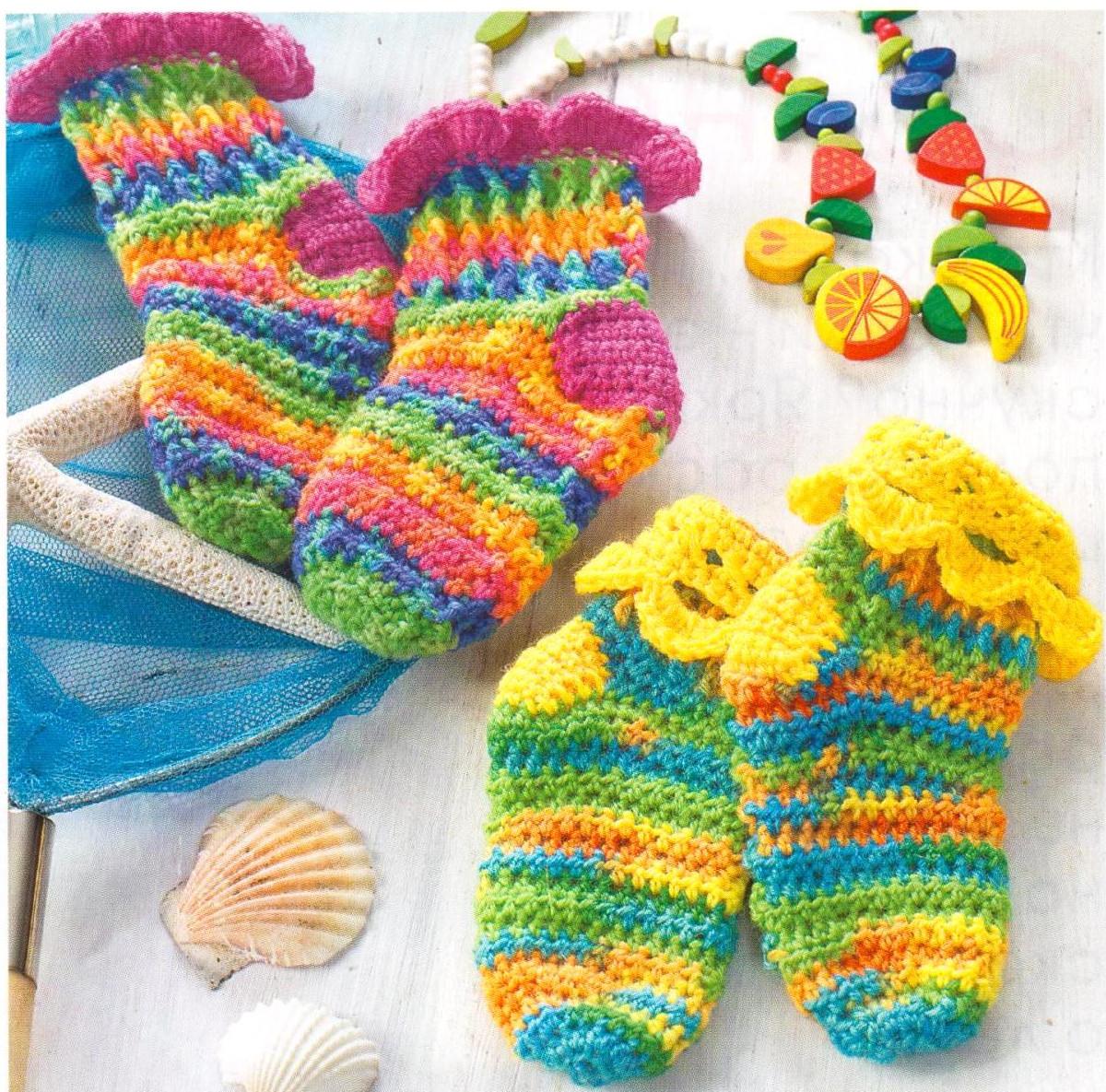 Разноцветное вязание крючком