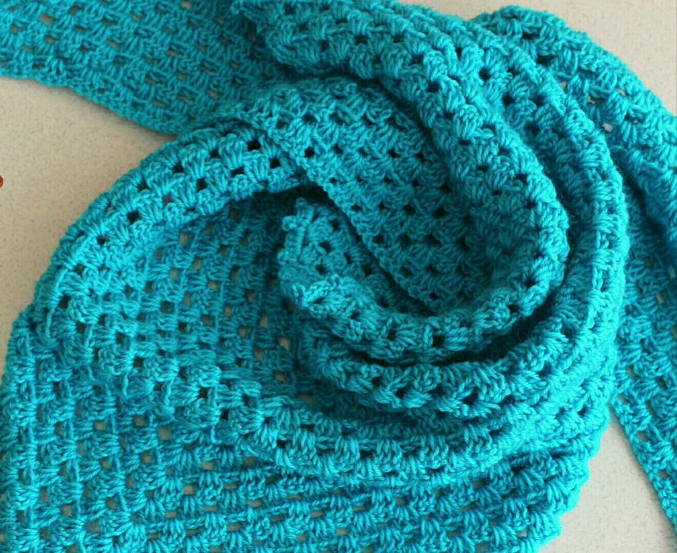 крючком вязание платок для начинающих схема